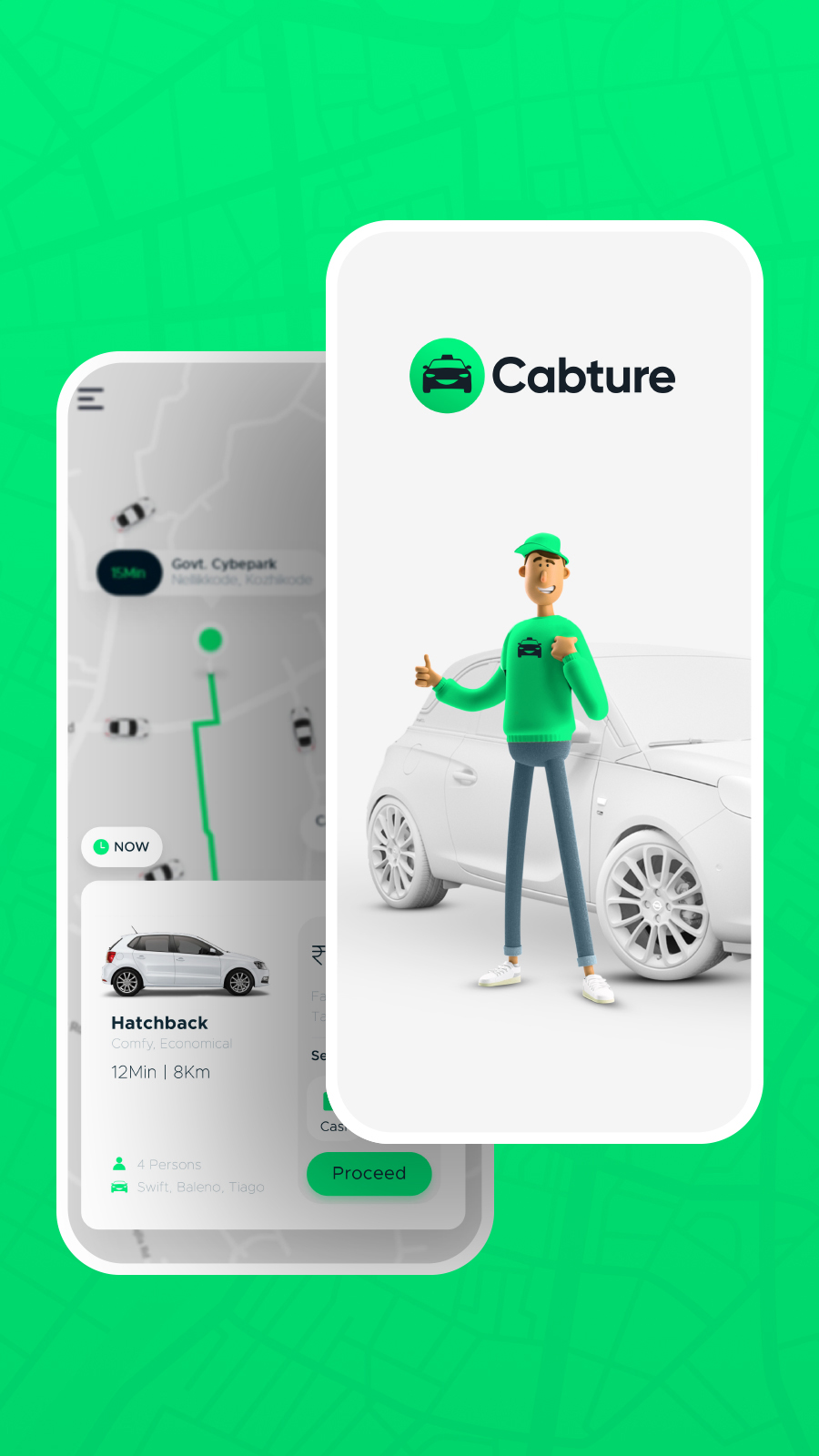 Lilac Cabture Taxi booking app
